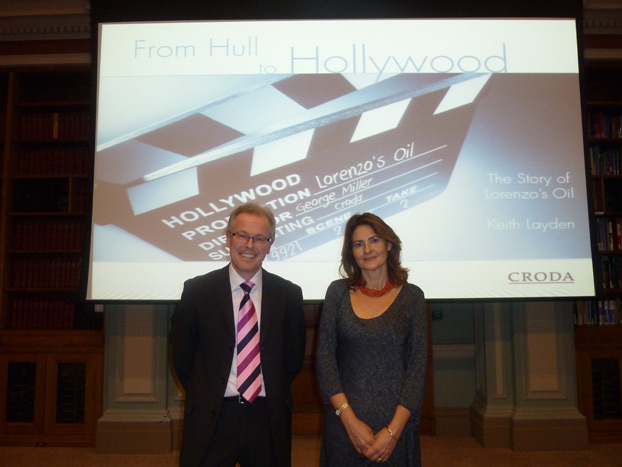 Cristina Odone and Keith Layden, the Director of CRODA